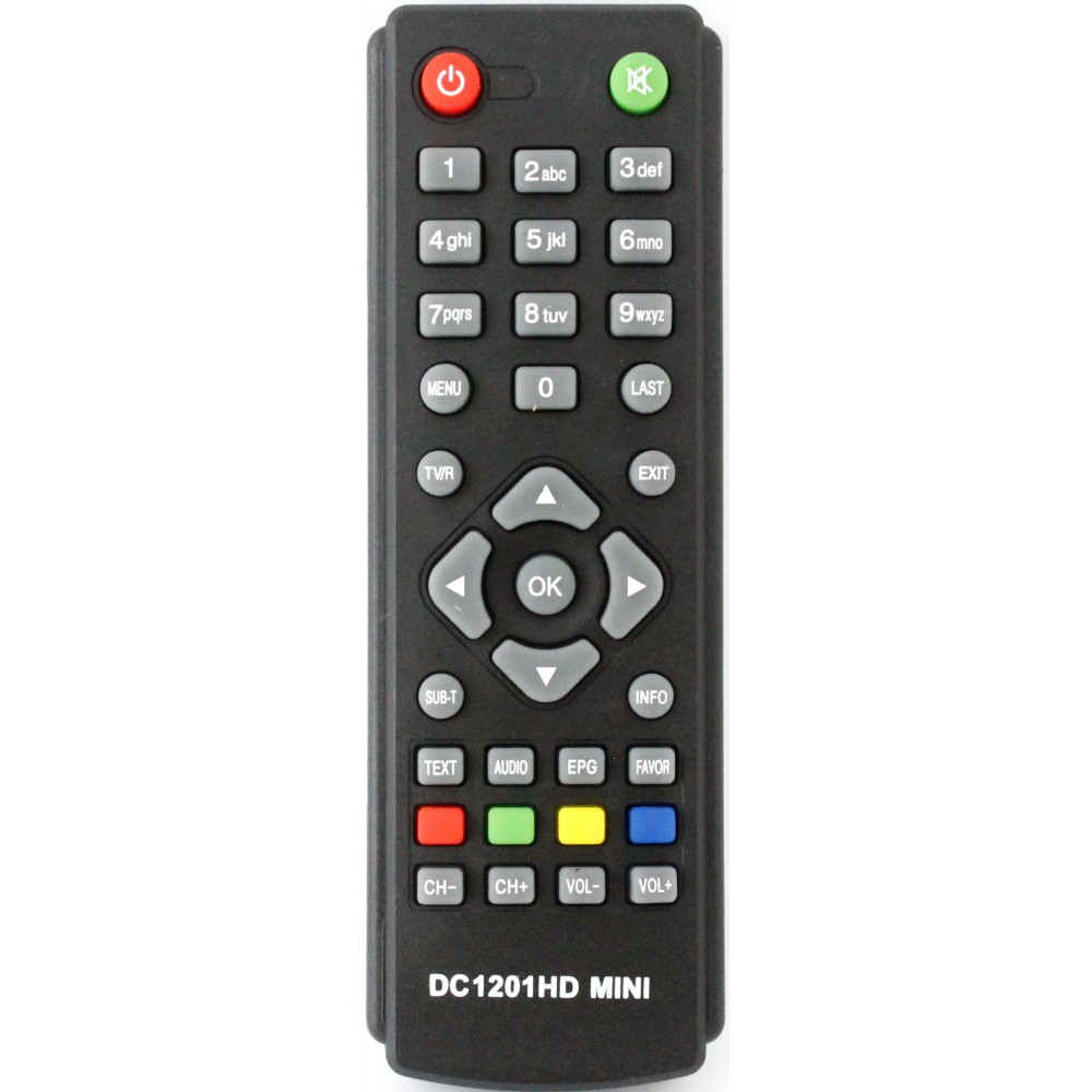 Фото Пульт для DVB-T2 приставки D-Color DC-1201HD mini